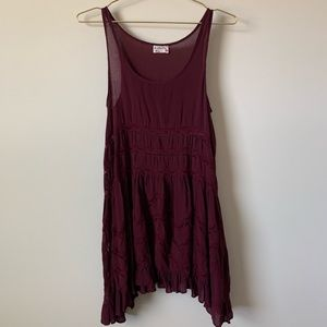 Intimately Free People Voile Lace Tarpeze Slip